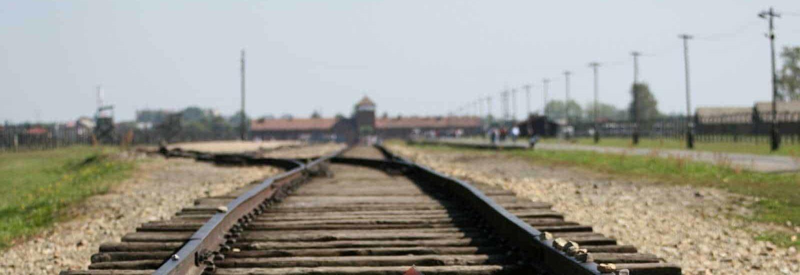 Gate to Birkenau during Krakow Auschwitz tour