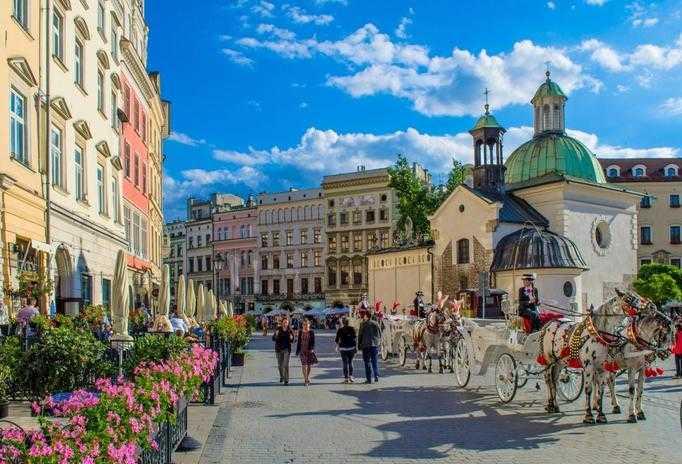 Krakow main square during Segway tour