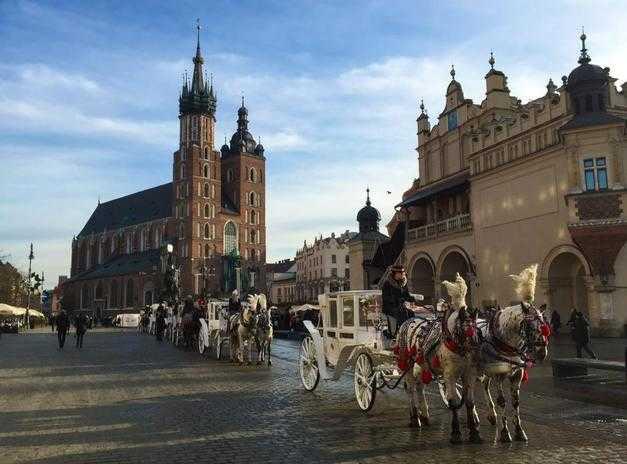Krakow saint Mary church during Krakow Segway tour