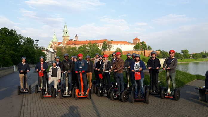 Krakow Wawel Castle view during Segway tour with Seweryn