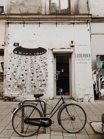 Art gallery during Krakow bike tour
