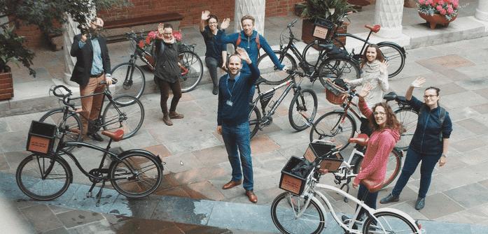 jagiellonian university during Krakow bike tour